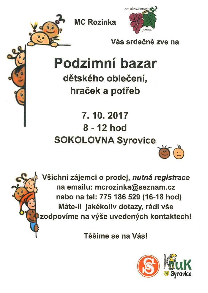 38893a902a03 Podzimní bazar dětského oblečení